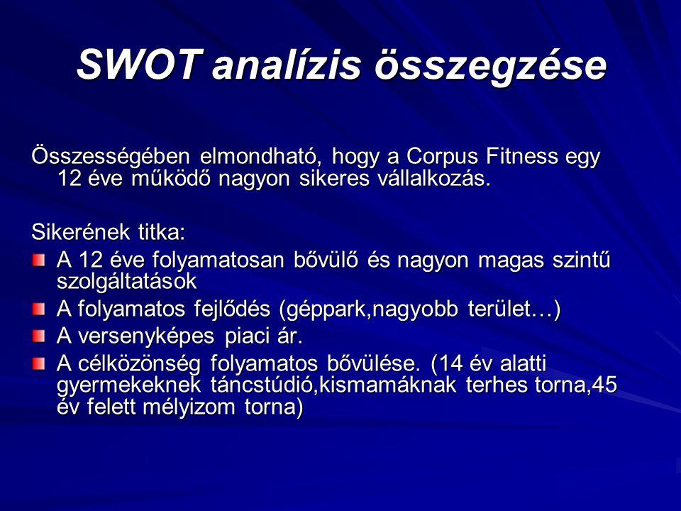 SWOT analízis összegzése