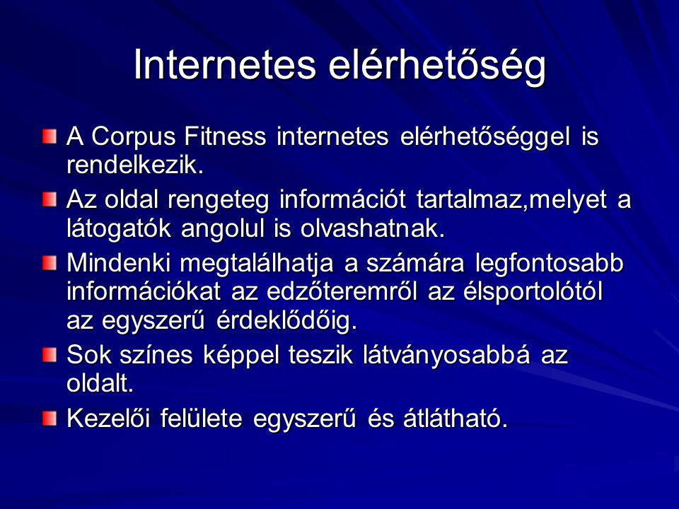 Internetes elérhetőség
