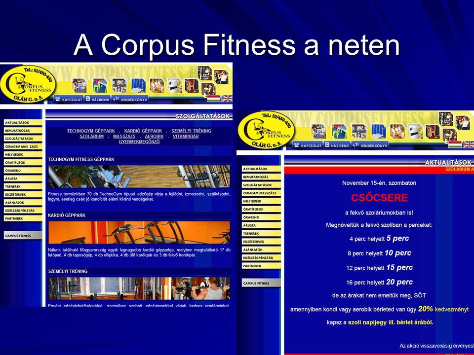 A Corpus Fitness a neten