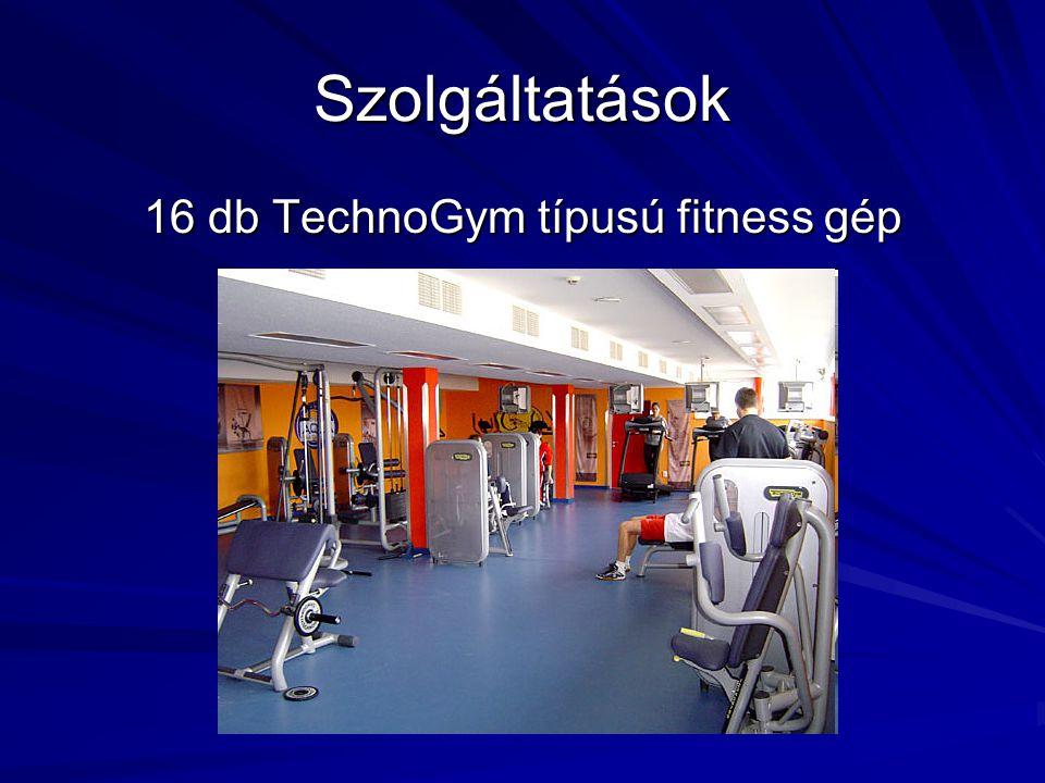 16 db TechnoGym típusú fitness gép