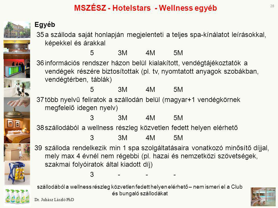 MSZÉSZ - Hotelstars - Wellness egyéb