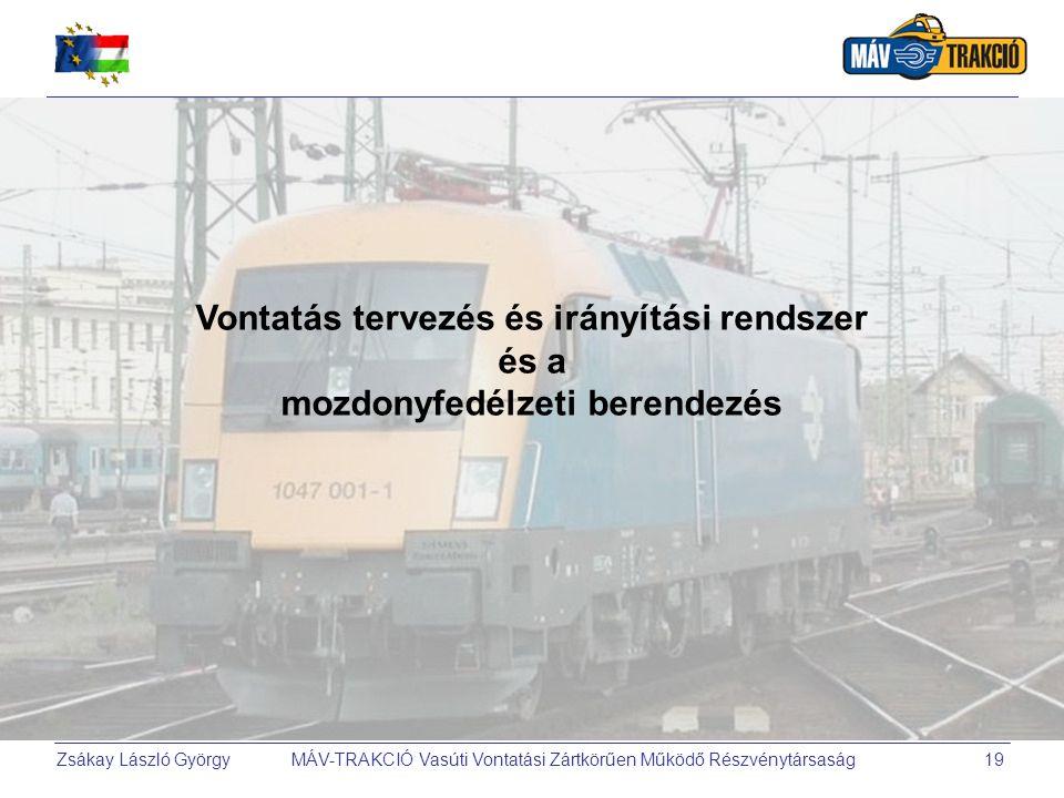 Vontatás tervezés és irányítási rendszer mozdonyfedélzeti berendezés