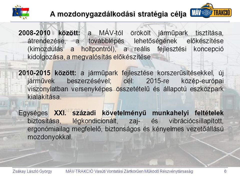 A mozdonygazdálkodási stratégia célja