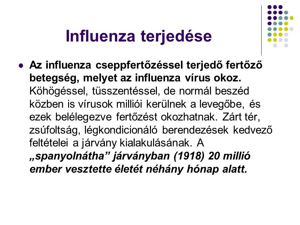 Influenza terjedése