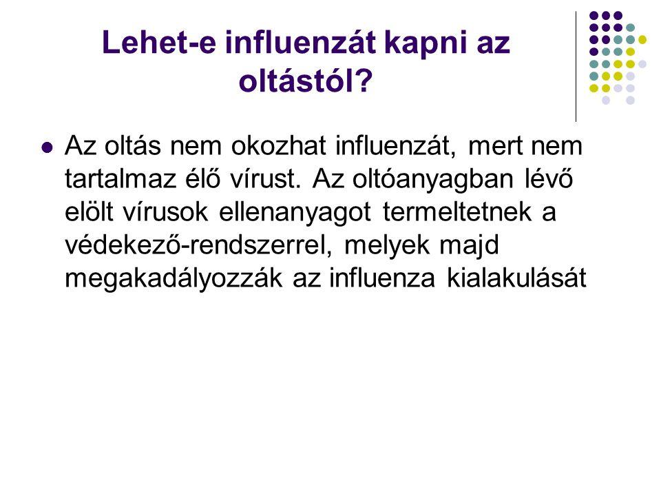 Lehet-e influenzát kapni az oltástól