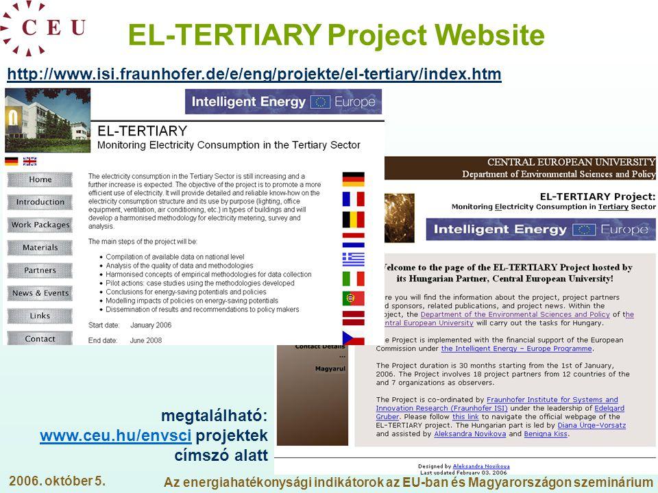 EL-TERTIARY Project Website