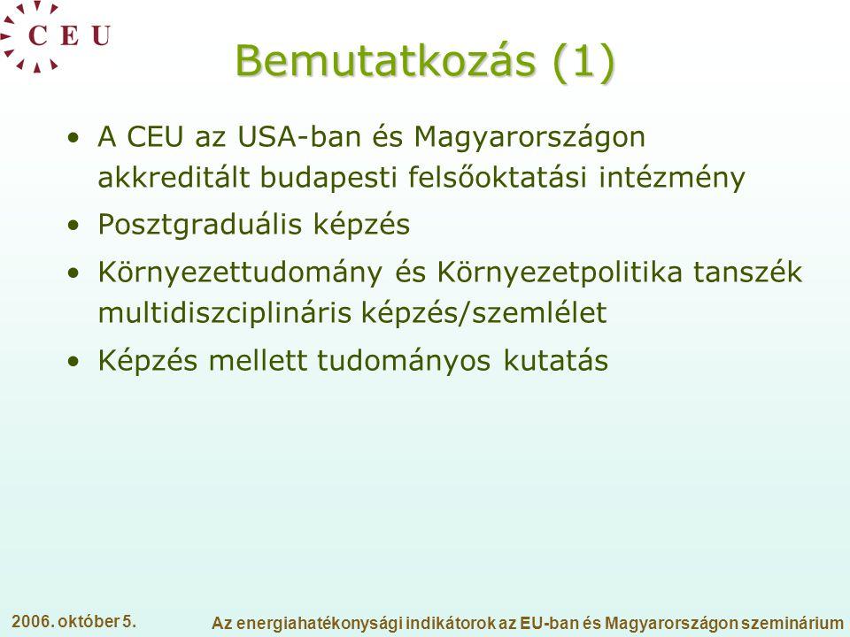 Bemutatkozás (1) A CEU az USA-ban és Magyarországon akkreditált budapesti felsőoktatási intézmény. Posztgraduális képzés.