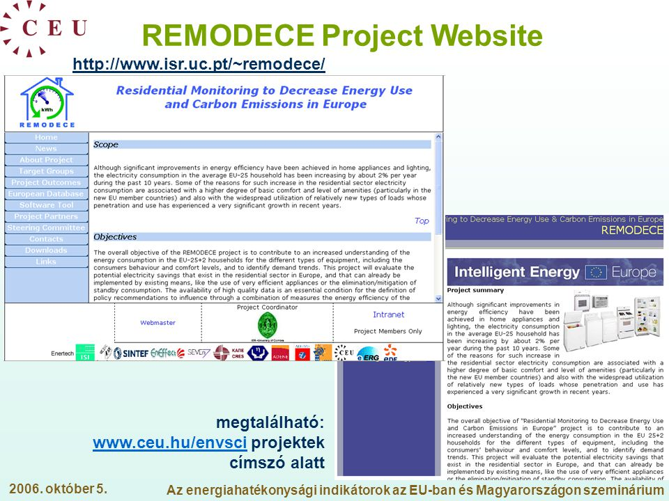 REMODECE Project Website