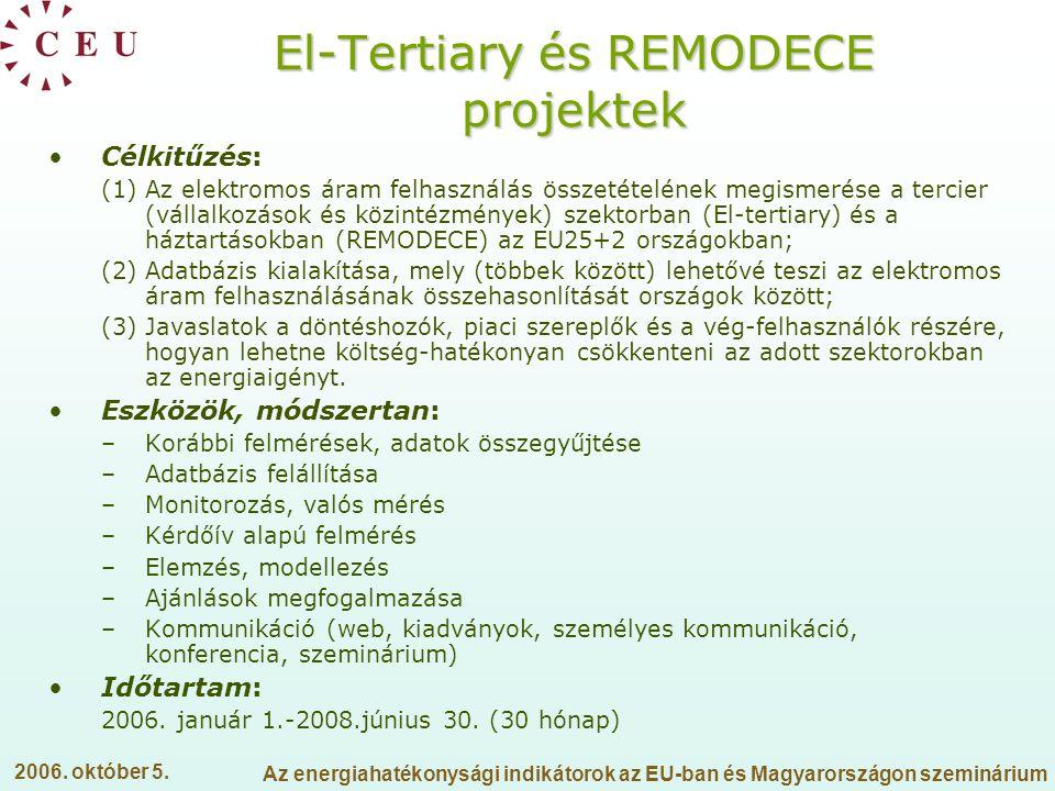 El-Tertiary és REMODECE projektek