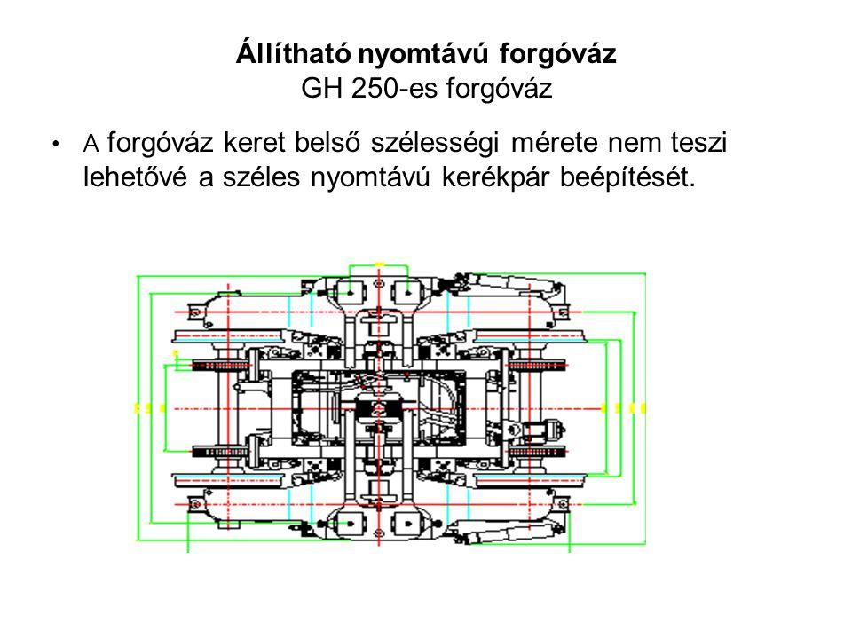 Állítható nyomtávú forgóváz GH 250-es forgóváz