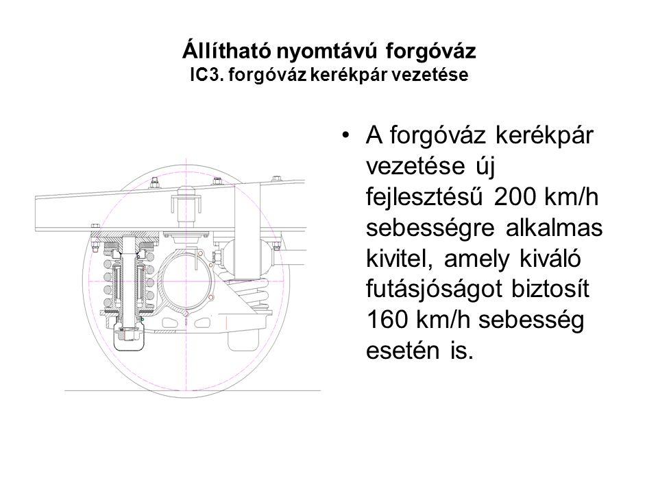 Állítható nyomtávú forgóváz IC3. forgóváz kerékpár vezetése