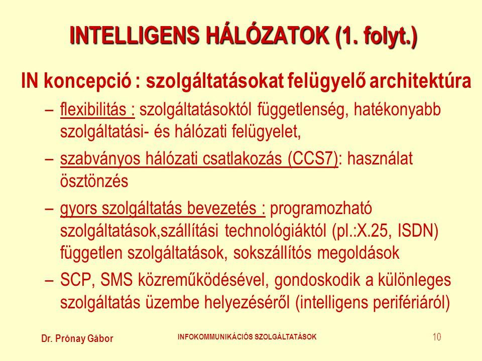 INTELLIGENS HÁLÓZATOK (1. folyt.)