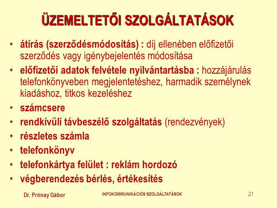 ÜZEMELTETŐI SZOLGÁLTATÁSOK