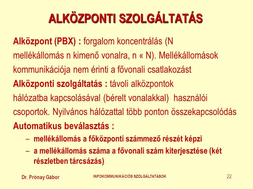 ALKÖZPONTI SZOLGÁLTATÁS