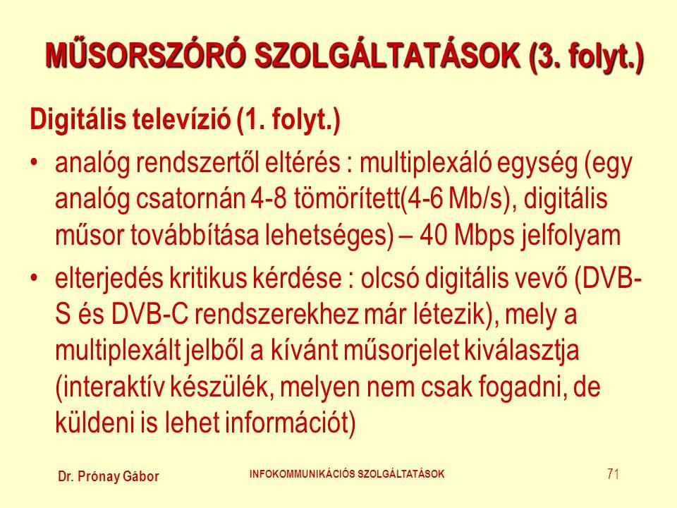 MŰSORSZÓRÓ SZOLGÁLTATÁSOK (3. folyt.)