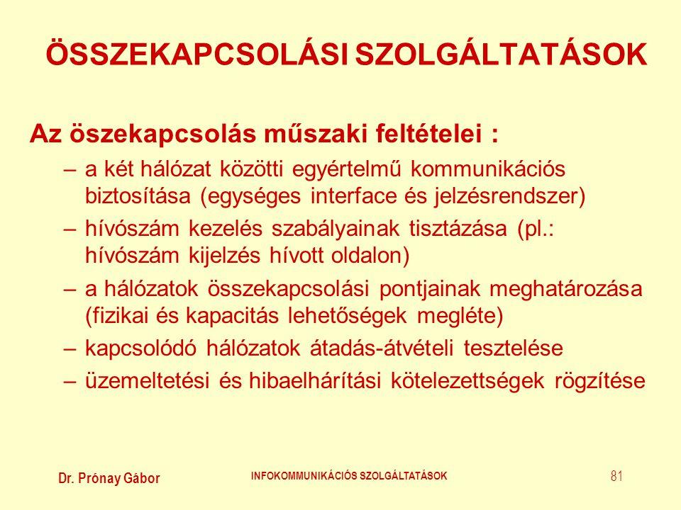 ÖSSZEKAPCSOLÁSI SZOLGÁLTATÁSOK