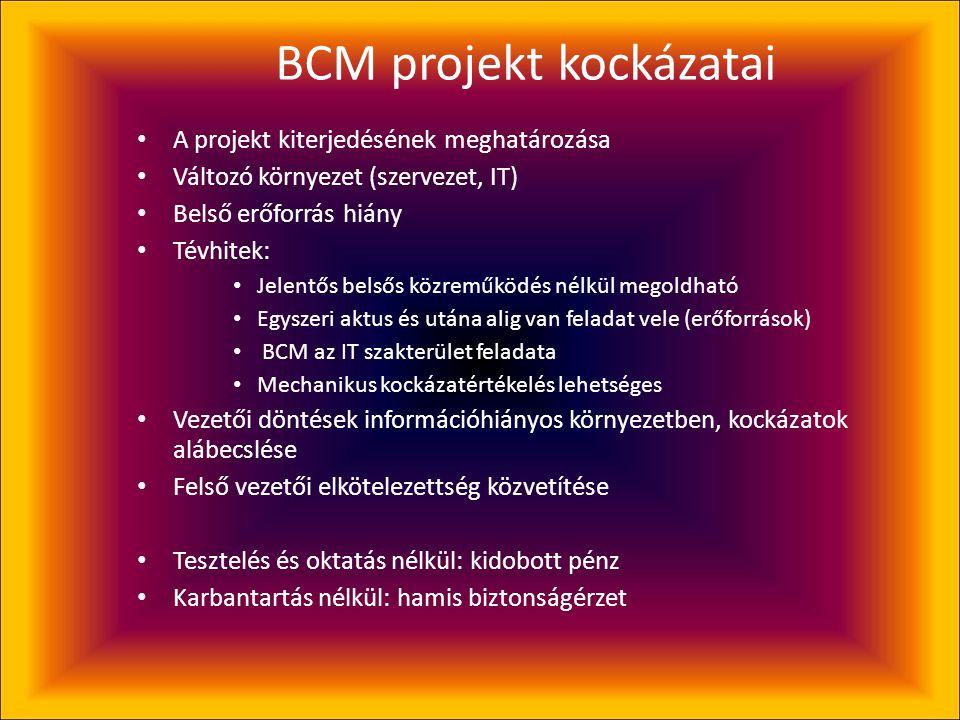 BCM projekt kockázatai
