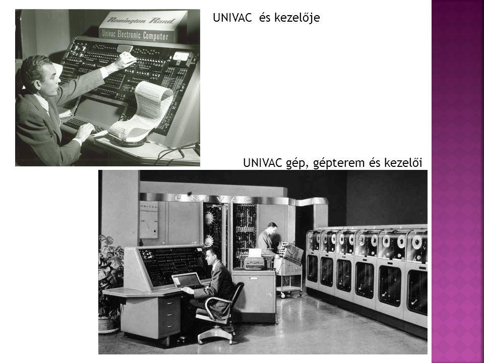 UNIVAC és kezelője UNIVAC gép, gépterem és kezelői