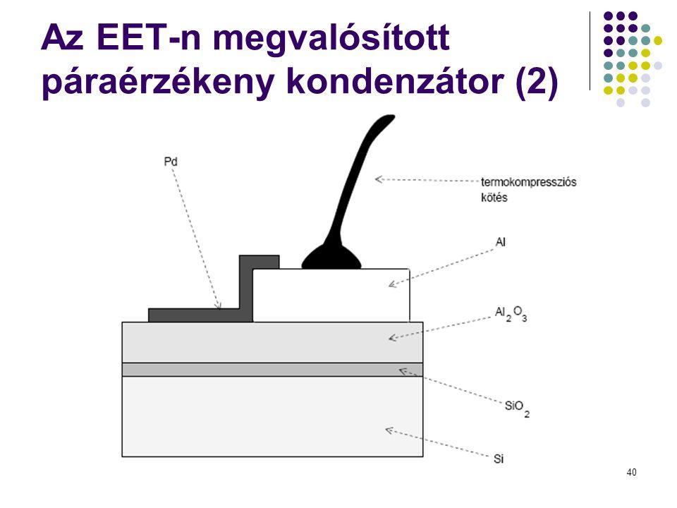 Az EET-n megvalósított páraérzékeny kondenzátor (2)