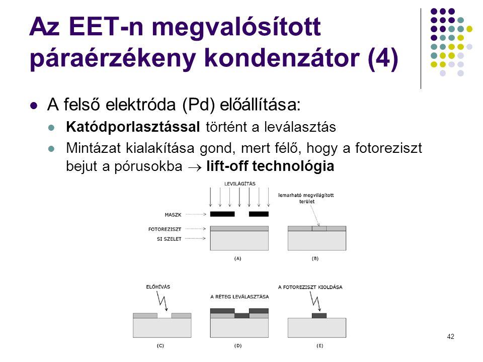 Az EET-n megvalósított páraérzékeny kondenzátor (4)