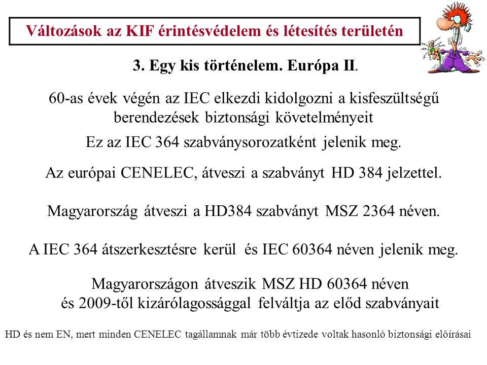 Változások az KIF érintésvédelem és létesítés területén