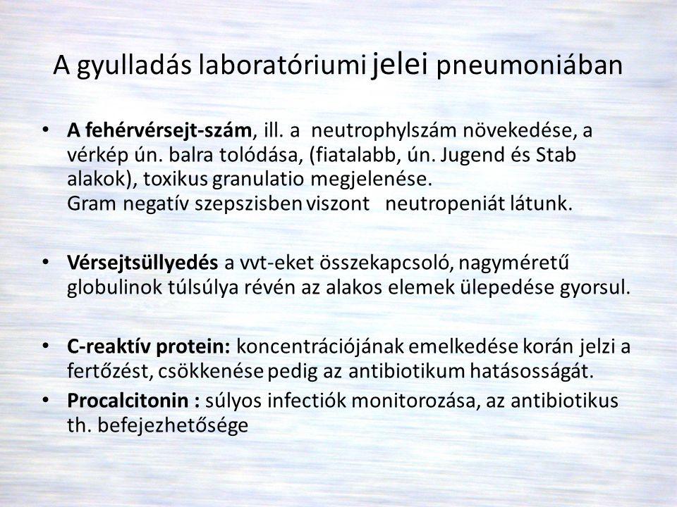 A gyulladás laboratóriumi jelei pneumoniában