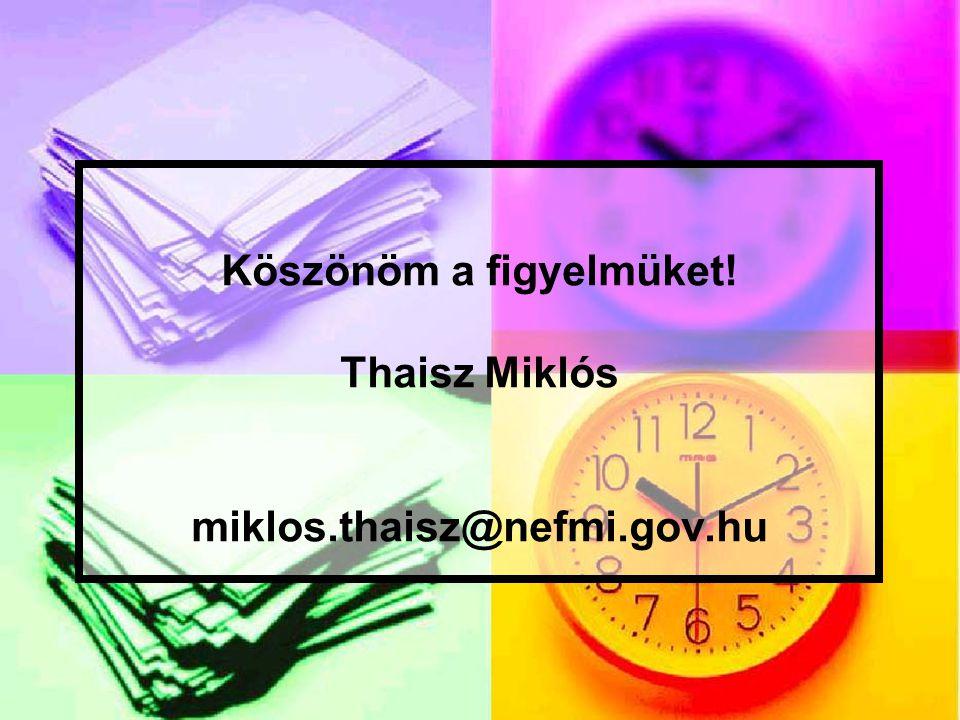 Köszönöm a figyelmüket! Thaisz Miklós miklos.thaisz@nefmi.gov.hu