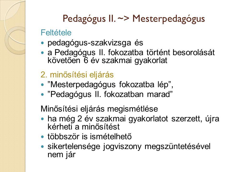 Pedagógus II. ~> Mesterpedagógus