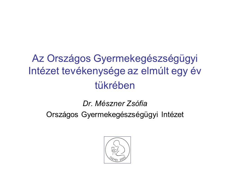 Dr. Mészner Zsófia Országos Gyermekegészségügyi Intézet