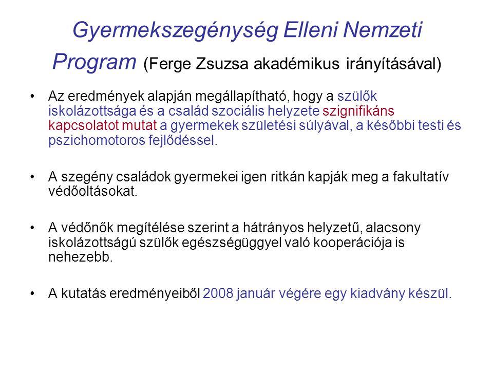 Gyermekszegénység Elleni Nemzeti Program (Ferge Zsuzsa akadémikus irányításával)