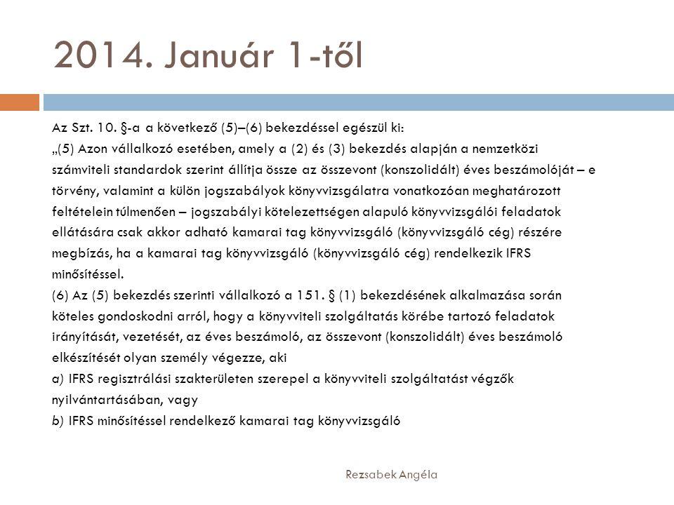 2014. Január 1-től