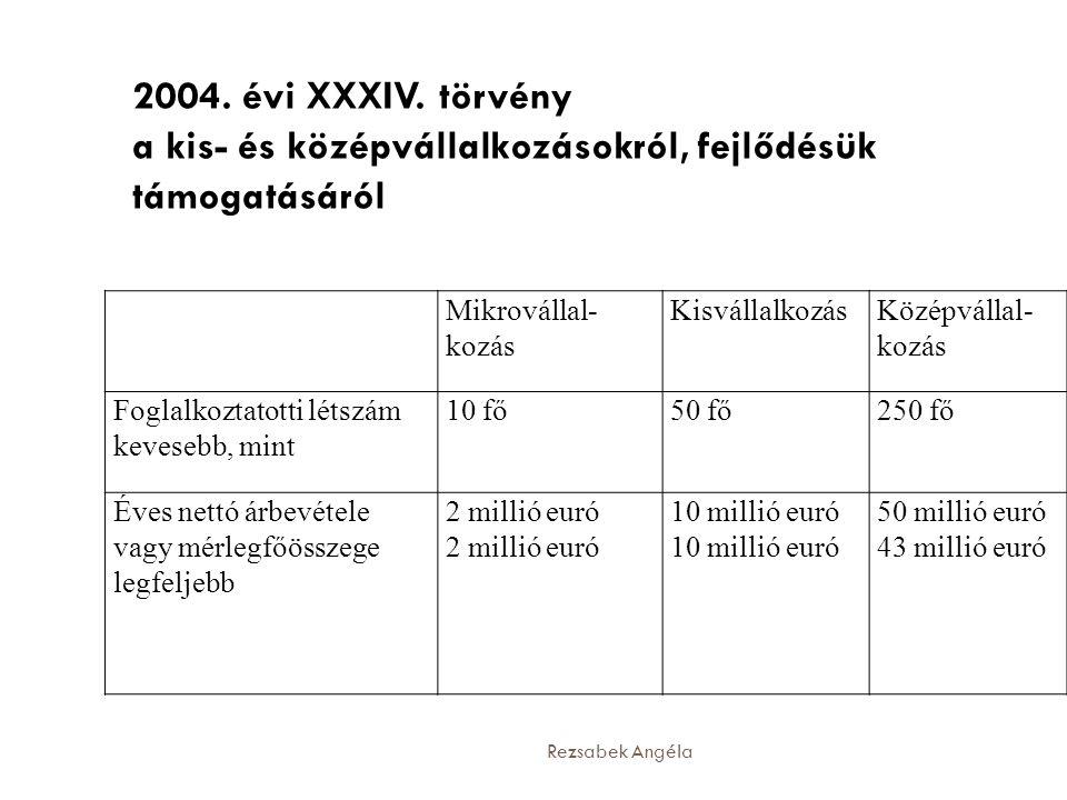 2004. évi XXXIV. törvény a kis- és középvállalkozásokról, fejlődésük támogatásáról