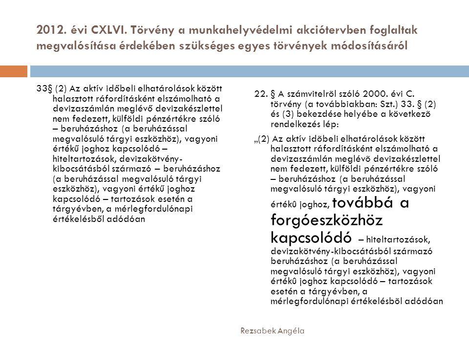 2012. évi CXLVI. Törvény a munkahelyvédelmi akciótervben foglaltak megvalósítása érdekében szükséges egyes törvények módosításáról