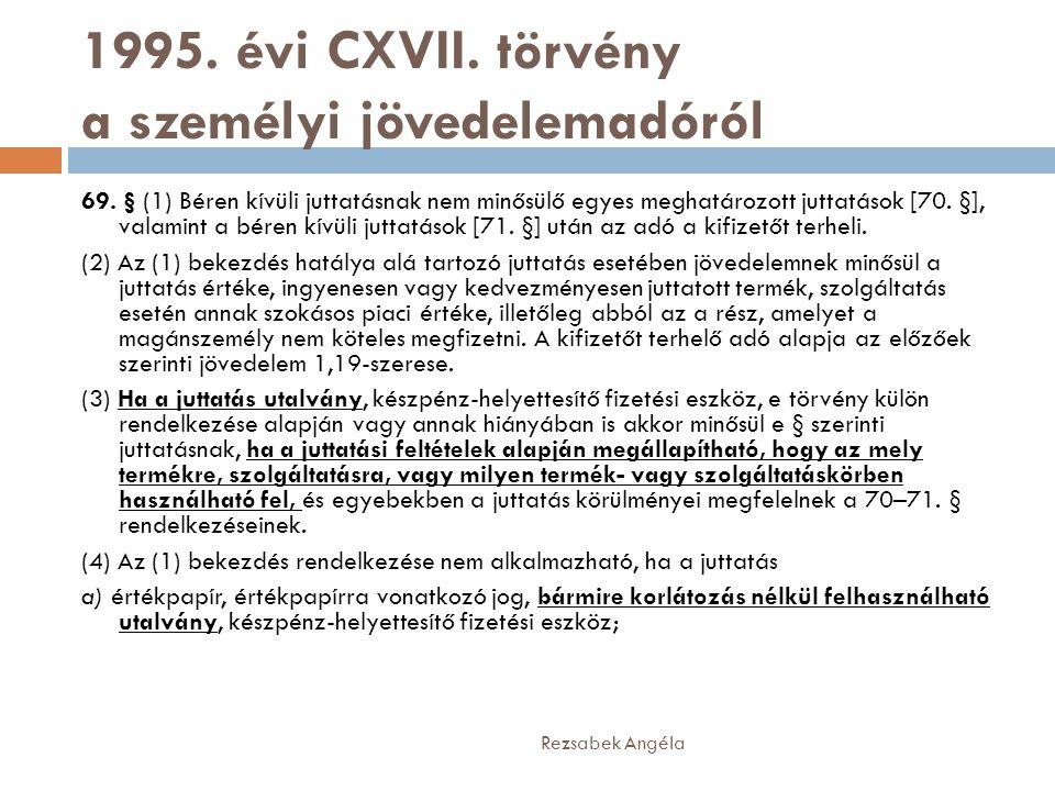 1995. évi CXVII. törvény a személyi jövedelemadóról