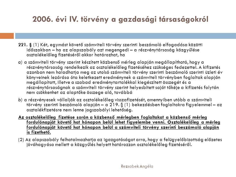 2006. évi IV. törvény a gazdasági társaságokról