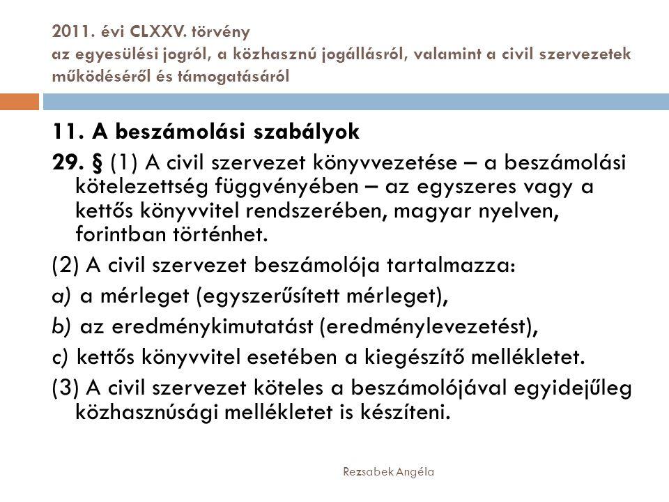2011. évi CLXXV. törvény az egyesülési jogról, a közhasznú jogállásról, valamint a civil szervezetek működéséről és támogatásáról