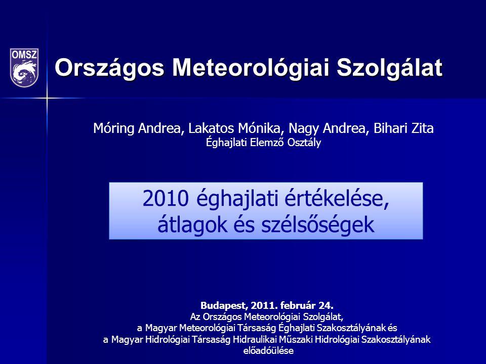2010 éghajlati értékelése, átlagok és szélsőségek