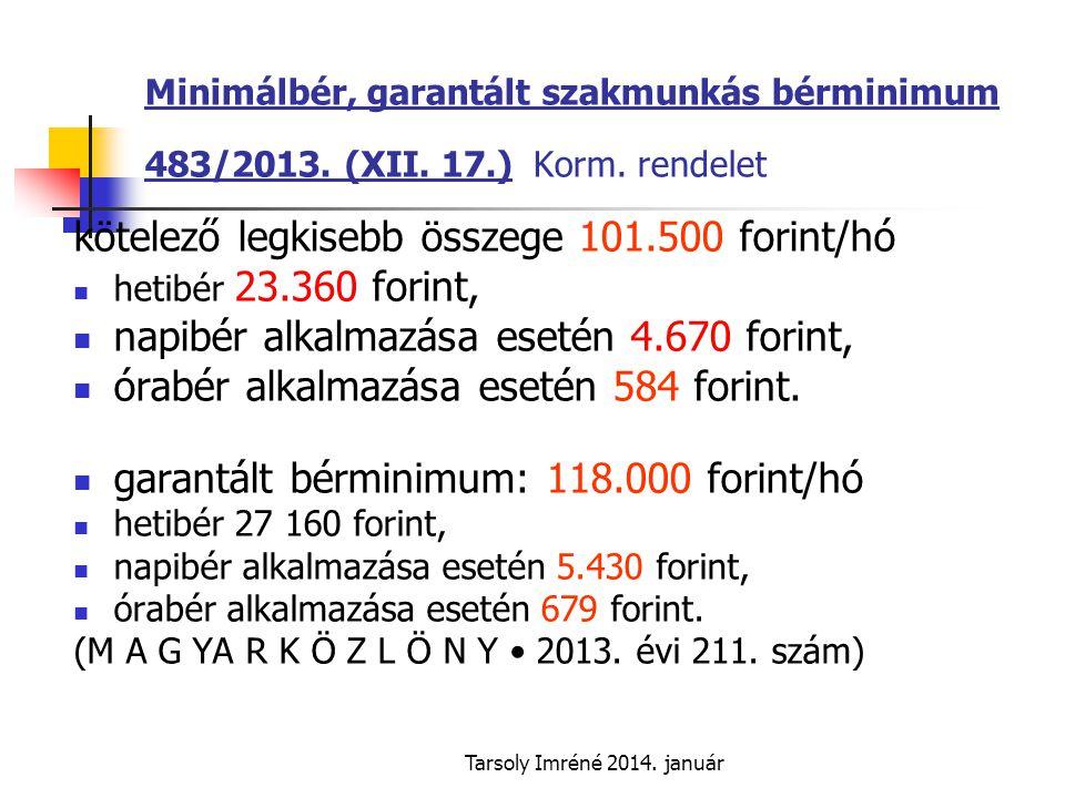 kötelező legkisebb összege 101.500 forint/hó