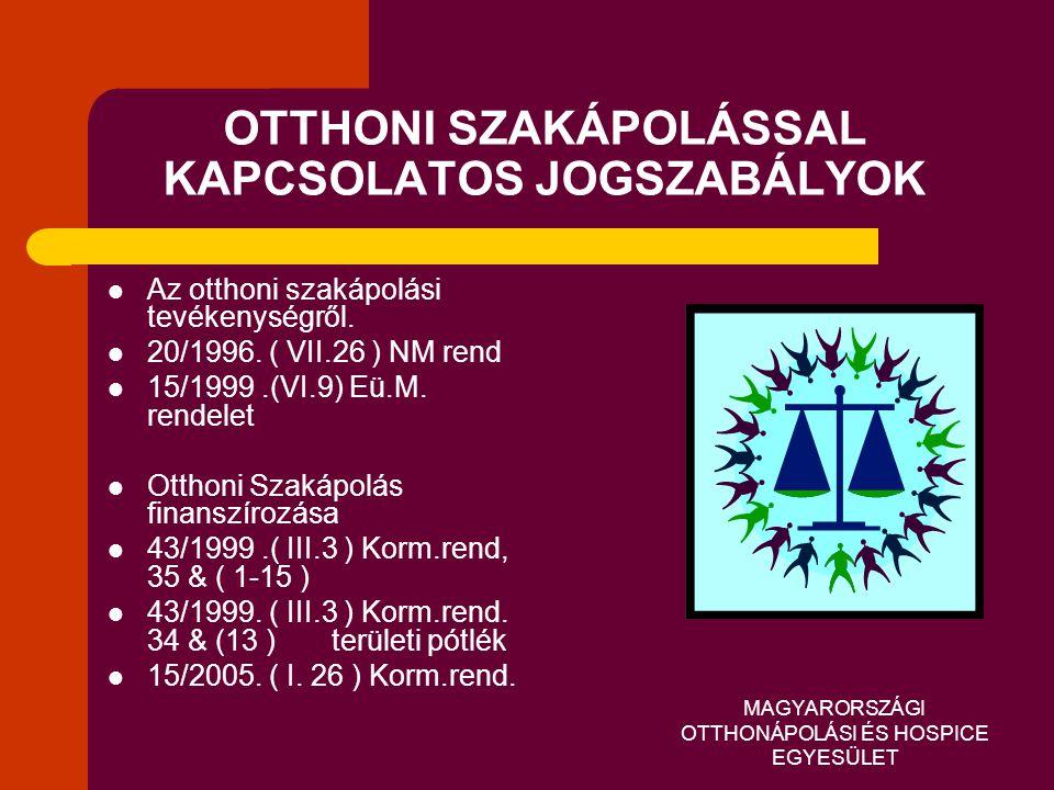 OTTHONI SZAKÁPOLÁSSAL KAPCSOLATOS JOGSZABÁLYOK