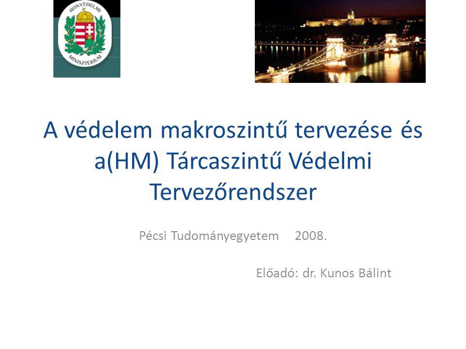 Pécsi Tudományegyetem 2008. Előadó: dr. Kunos Bálint