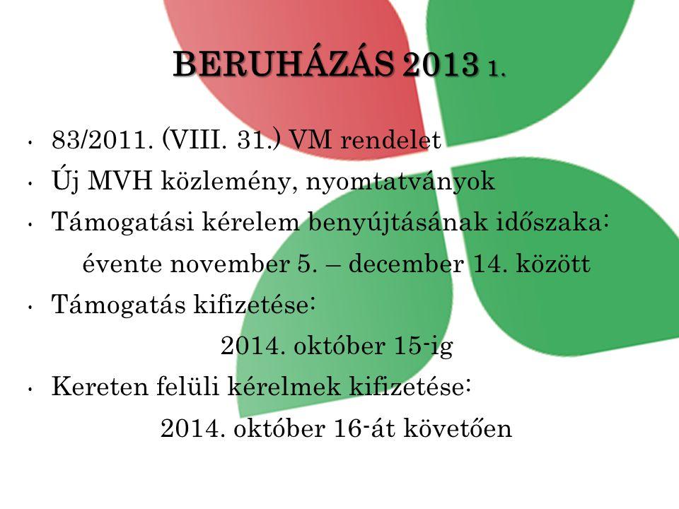 évente november 5. – december 14. között