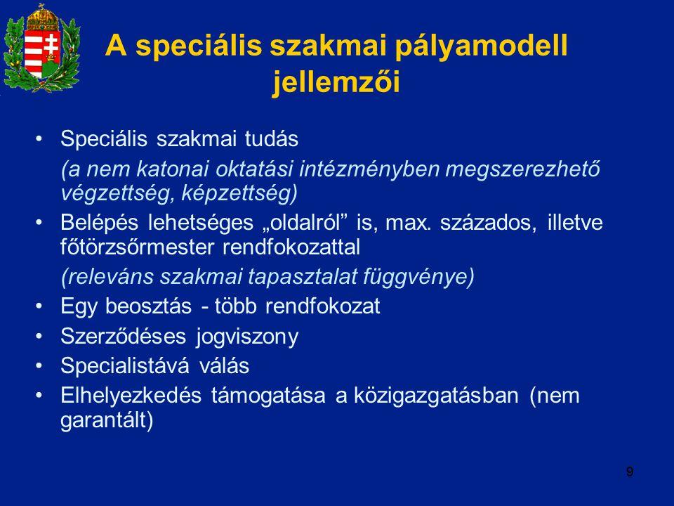 A speciális szakmai pályamodell jellemzői