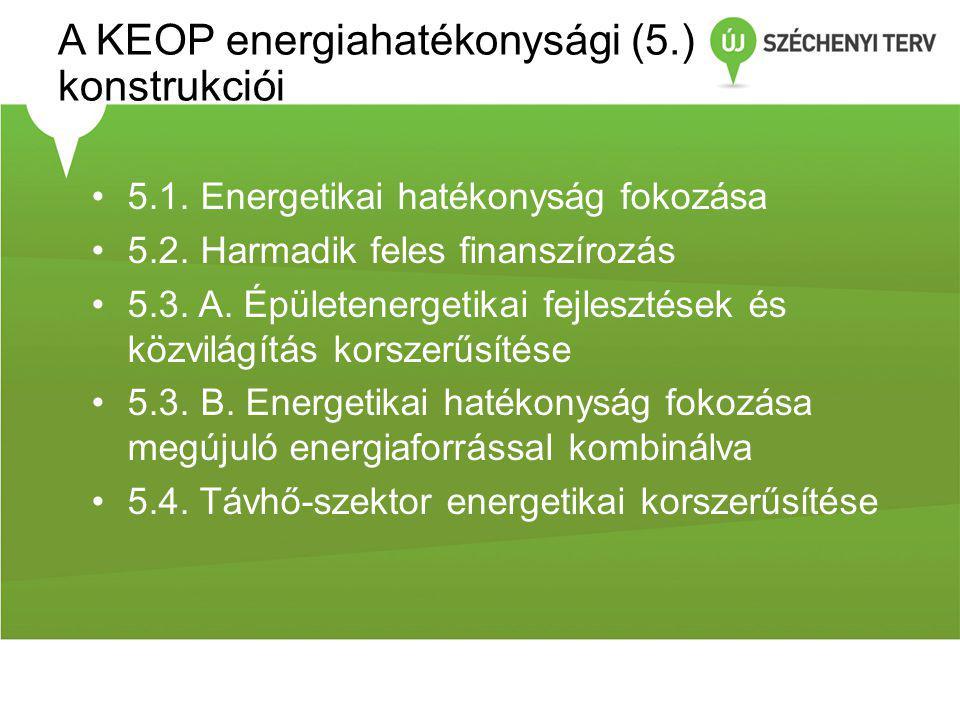A KEOP energiahatékonysági (5.) konstrukciói