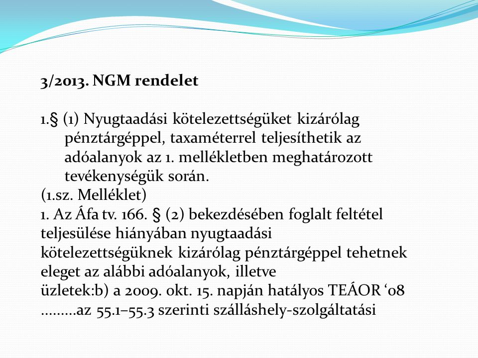 3/2013. NGM rendelet