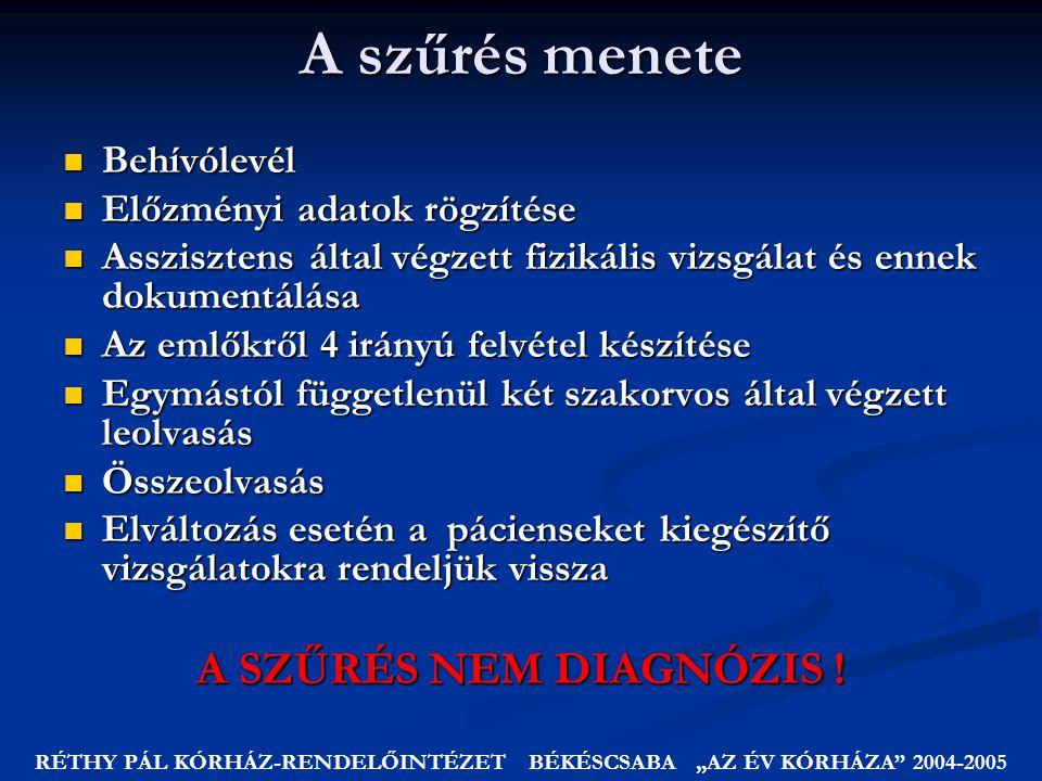 """RÉTHY PÁL KÓRHÁZ-RENDELŐINTÉZET BÉKÉSCSABA """"AZ ÉV KÓRHÁZA 2004-2005"""