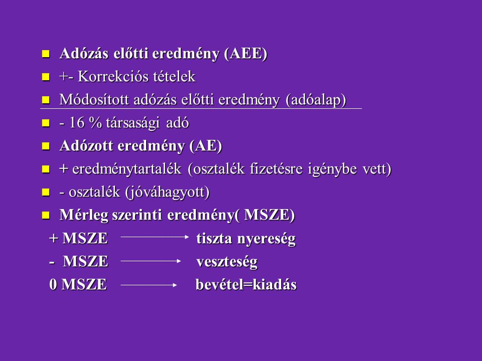 Adózás előtti eredmény (AEE)