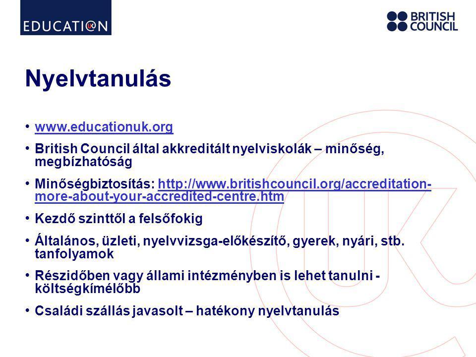 Nyelvtanulás www.educationuk.org