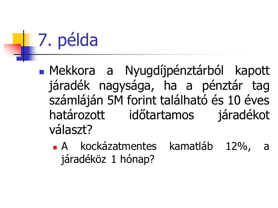7. példa