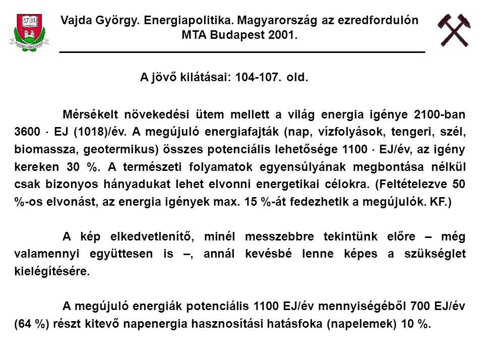 Vajda György. Energiapolitika. Magyarország az ezredfordulón