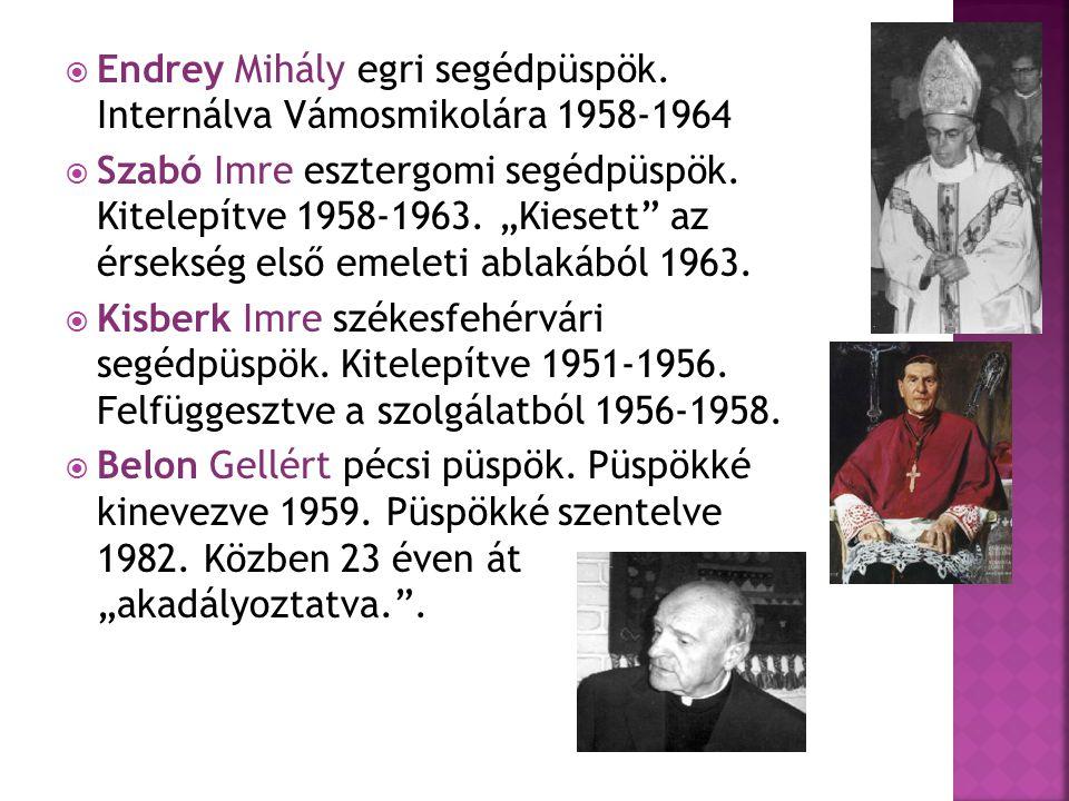 Endrey Mihály egri segédpüspök. Internálva Vámosmikolára 1958-1964